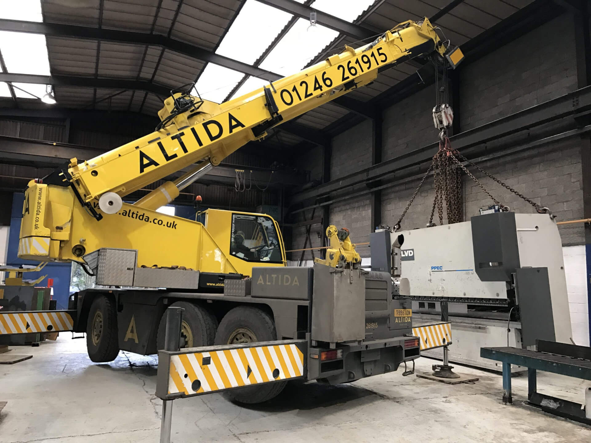 Mobile crane that has been maintained serviced tested and certified working.