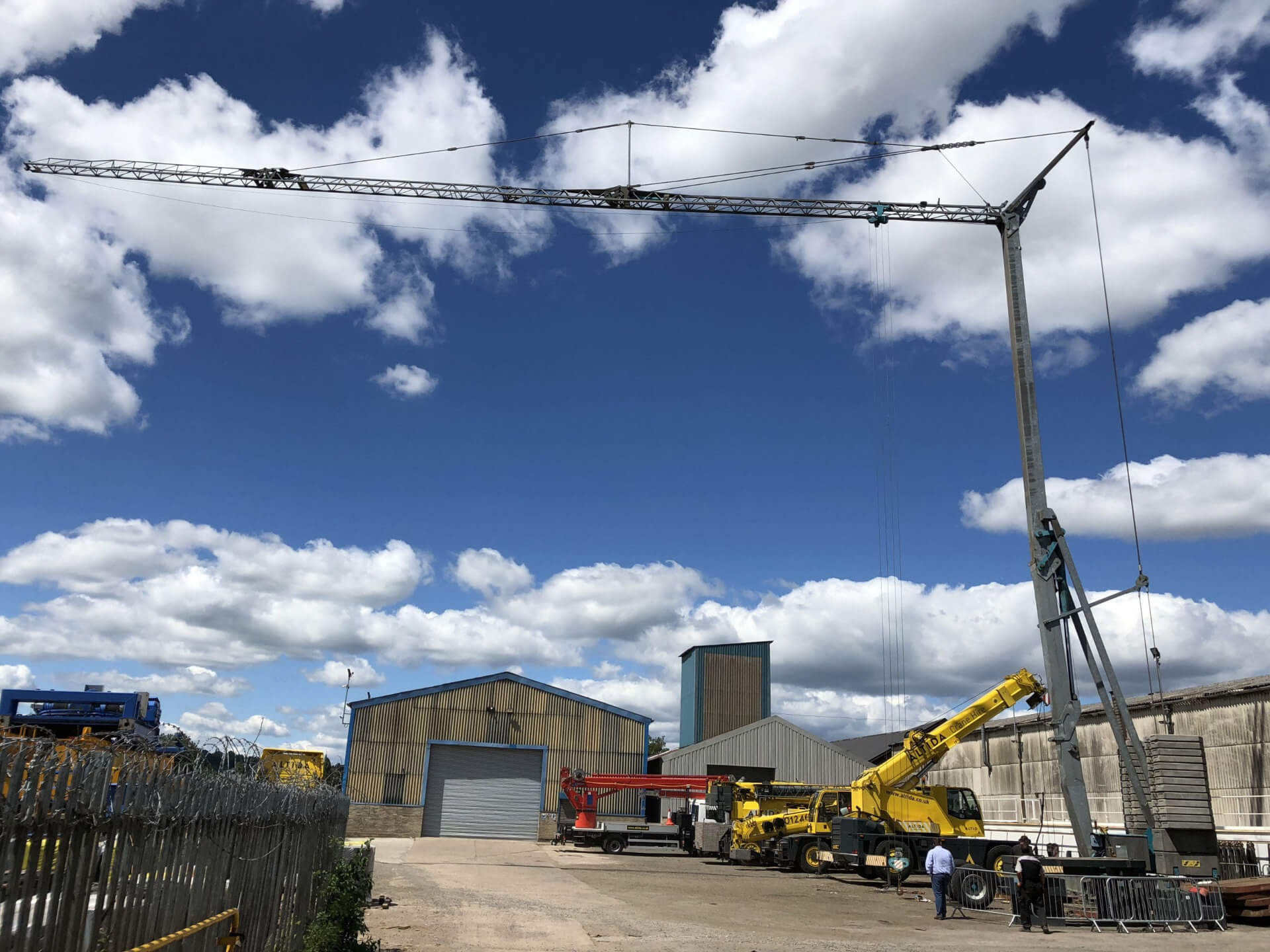 Self Erecting Pedestrian Operated Tower Cranes