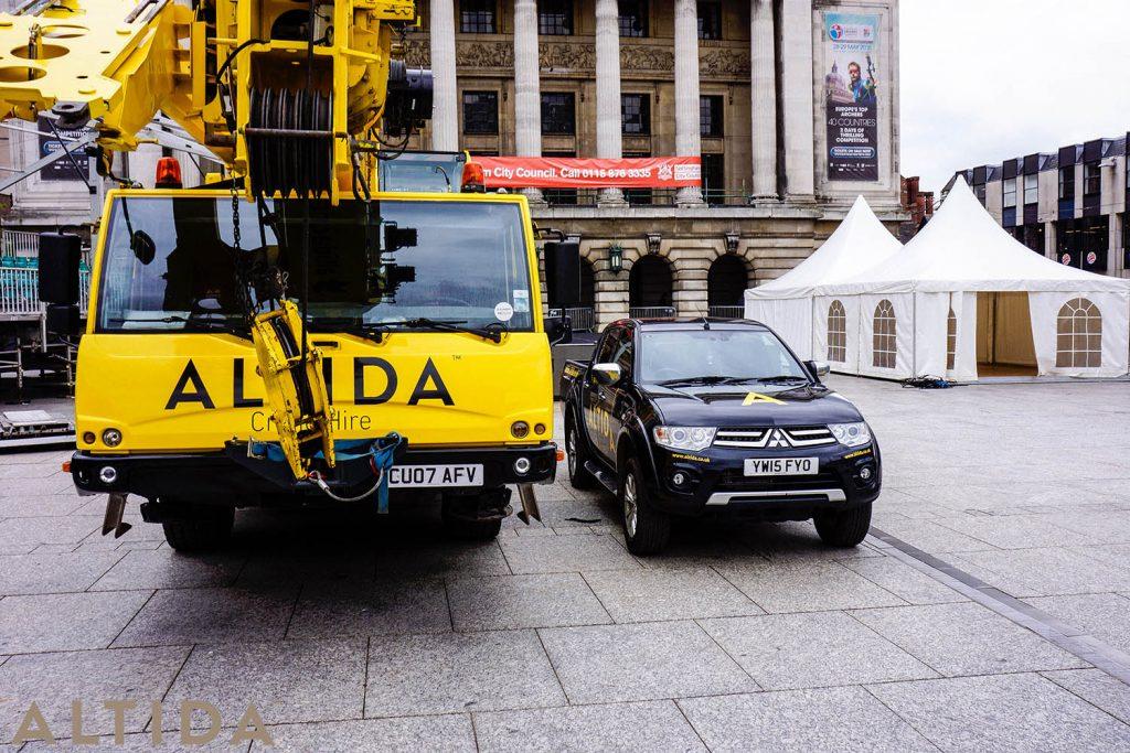 10. Terex AC 402 L 40 Tonne Long Boom Altida Mobile Crane Hire in Nottingham City Centre