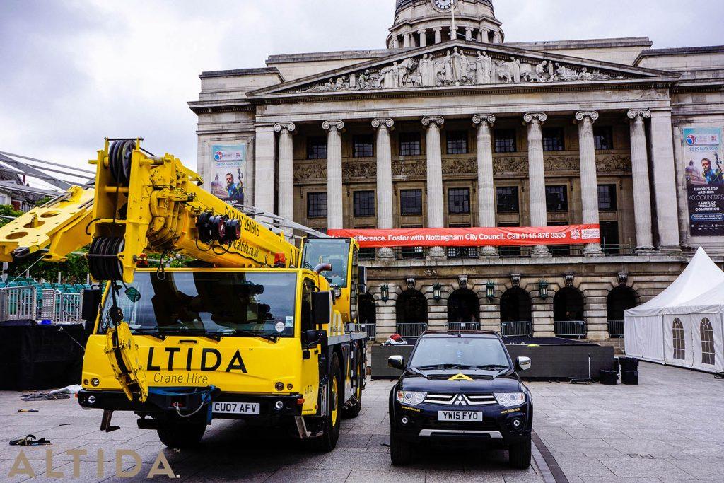 12. Terex AC 402 L 40 Tonne Long Boom Altida Mobile Crane Hire in Nottingham City Centre