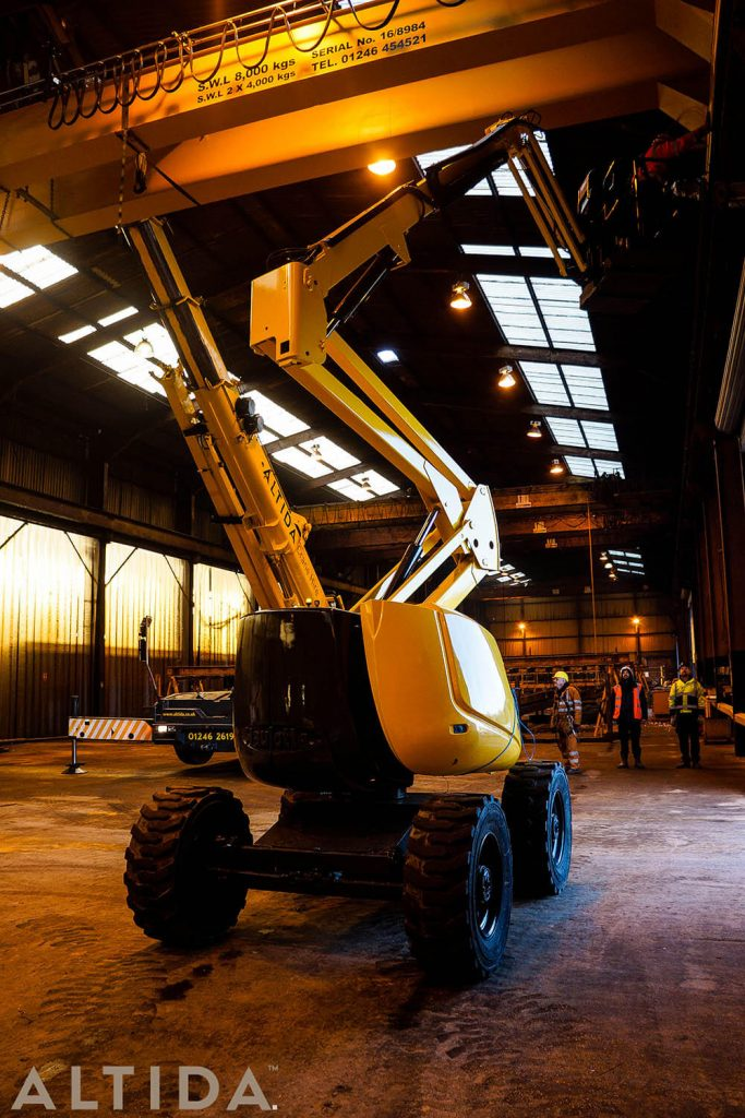 15. Altida Mobile Crane Hire using a Demag AC 40 Tonne City to install a reconditioned overhead crane weighing 9 tonnes for Chesterfield Crane Company