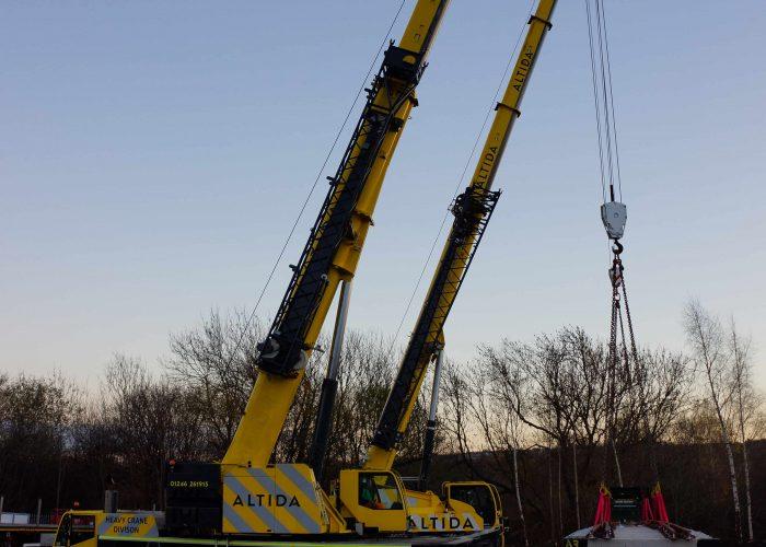 telehandler heavy crane hire