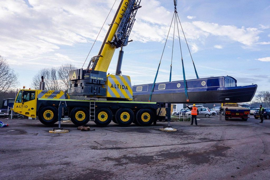 4. Terex AC 140 Tonne 18 Tonne Boat Lift with 15 Meters Radius of Boom Reach Required