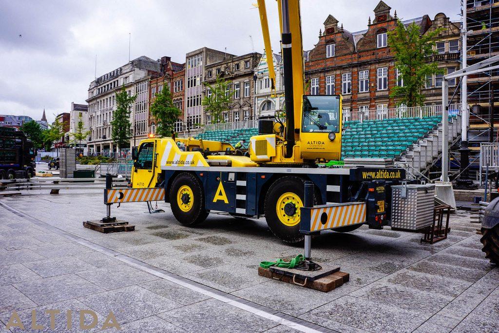 4. Terex AC 402 L 40 Tonne Long Boom Altida Mobile Crane Hire in Nottingham City Centre