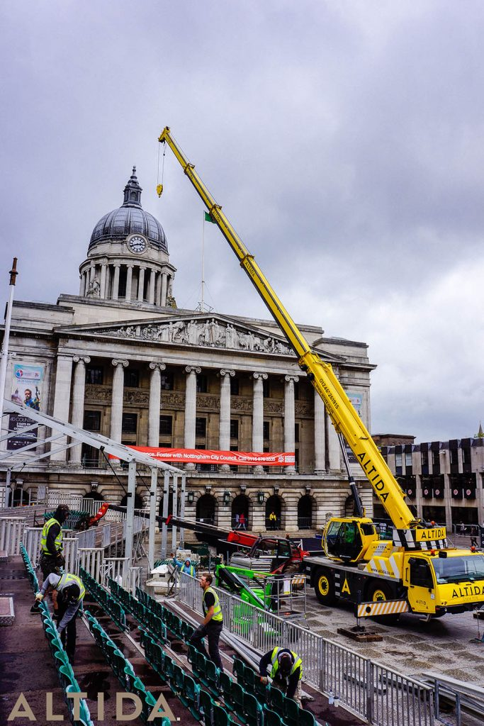 5. Terex AC 402 L 40 Tonne Long Boom Altida Mobile Crane Hire in Nottingham City Centre