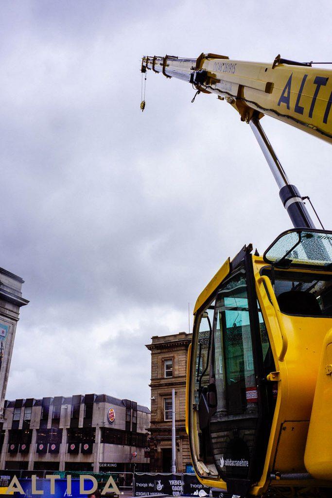 8. Terex AC 402 L 40 Tonne Long Boom Altida Mobile Crane Hire in Nottingham City Centre