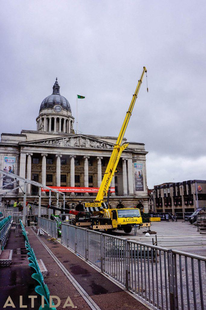9. Terex AC 402 L 40 Tonne Long Boom Altida Mobile Crane Hire in Nottingham City Centre