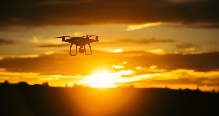 Drones used in construction
