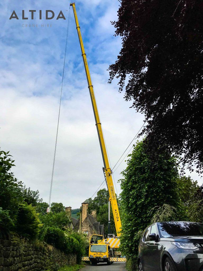 Terex AC 100 4L Crane Hire 1902kg Hot Tub Lift Derbyshire 1 min