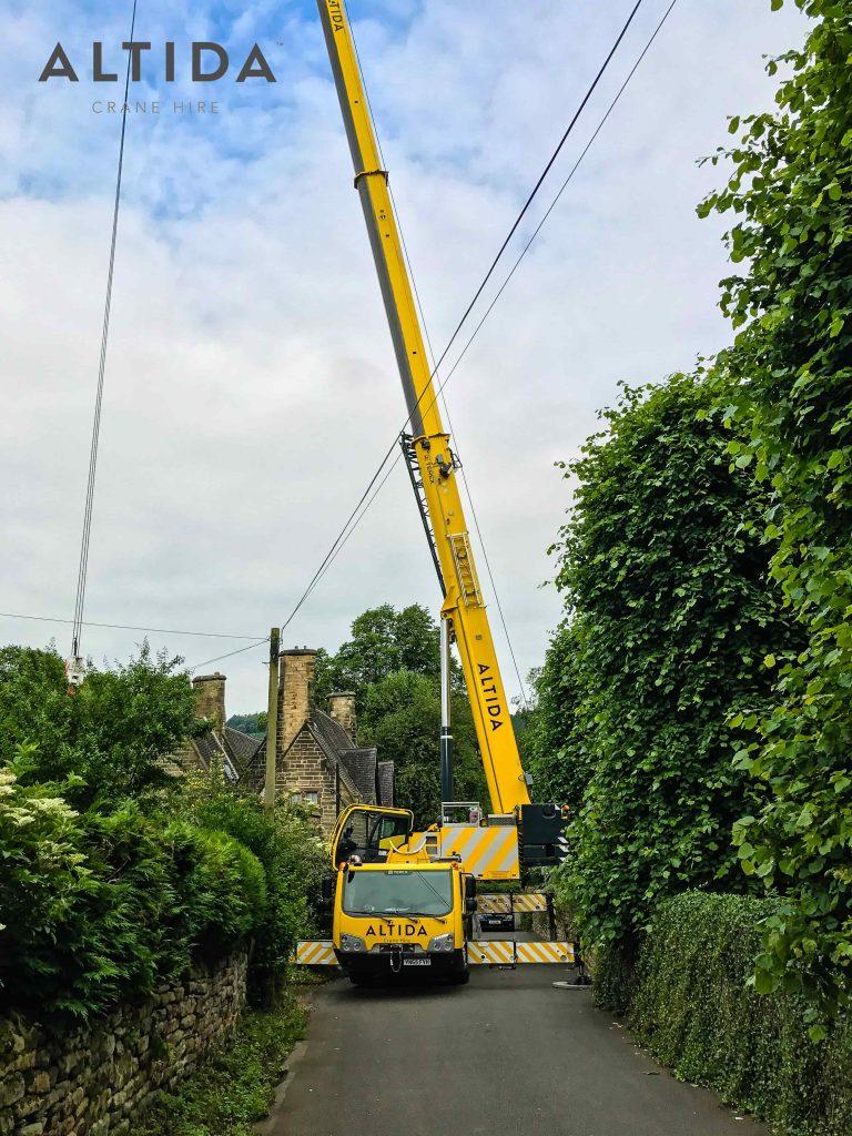 Terex AC 100 4L Crane Hire 1902kg Hot Tub Lift Derbyshire 2 min
