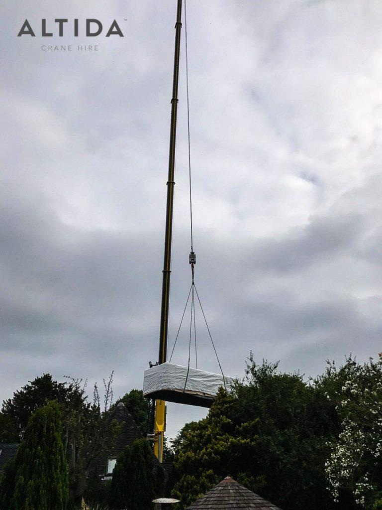Terex AC 100 4L Crane Hire 1902kg Hot Tub Lift Derbyshire 3 min