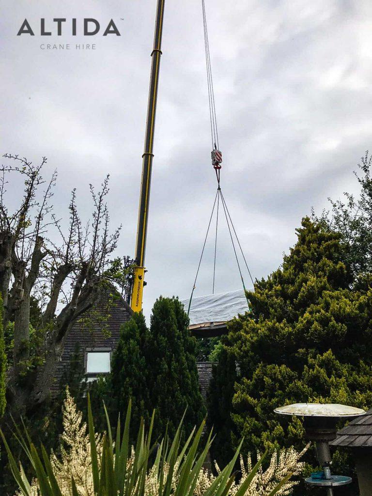 Terex AC 100 4L Crane Hire 1902kg Hot Tub Lift Derbyshire 5 min