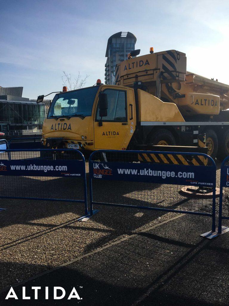 Terex AC603L 60 Tonne All Terrain Crane. Zip Line for BBC Blue Peter in Manchester 3